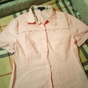 Burberry pink button up